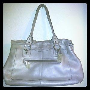 Gorgeous Large Metallic Coach Handbag